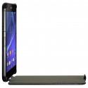 Housse Etui Coque Rigide à Clapet pour Sony Xperia Z2 Couleur Noir + Film de Protection
