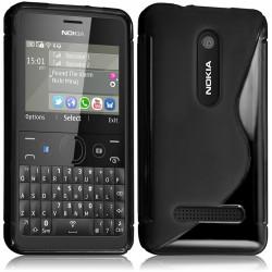 Coque S-Line couleur Noir pour Nokia Asha 210 + Film de Protection