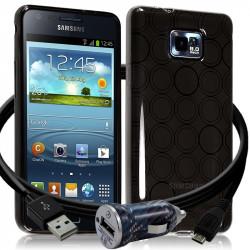 Housse Coque Style Cercle Fumée Translucide pour Samsung Galaxy S2 i9100 + Chargeur Auto