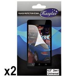 Pack de 2 Films de Protection d'Ecran à découper Universel S aux dimensions max 10cm x 5,7cm pour Alcatel One Touch Pop S3