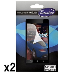 Pack de 2 Films de Protection d'Ecran à découper Universel S aux dimensions max 10cm x 5,7cm pour Haier Phone W716S