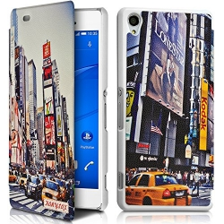 Coque Etui à rabat porte-carte motif KJ26B pour Sony Xperia Z3 + Film de protection