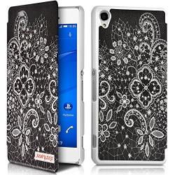 Coque Etui à rabat porte-carte motif LM11 pour Sony Xperia Z3 + Film de protection