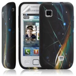 Housse coque étui en gel pour Samsung Wave 575 S5750 avec motif