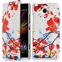 Etui à rabat latéral et porte-carte pour Sony Xperia SP avec motif KJ12 + Film de Protection