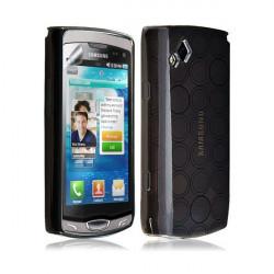 Housse étui coque gel hydro pour Samsung Wave 2 S8530 couleur noir