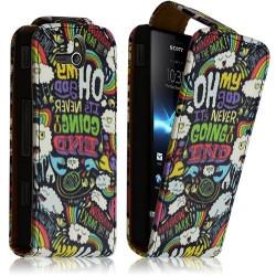 Housse coque étui pour Sony Xperia U avec motif LM18