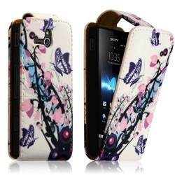 Housse Coque Etui pour Sony Xperia U Motif HF01