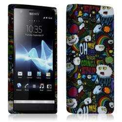 Housse étui Coque Gel pour Sony Xperia U Motif LM18