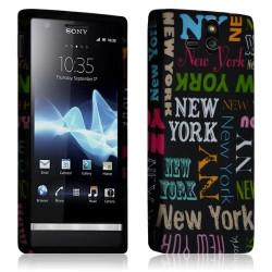 Housse étui Coque Gel pour Sony Xperia U Motif LM20