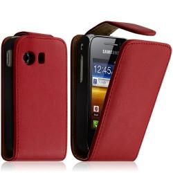 Housse coque étui pour SAMSUNG GALAXY Y S5360 Couleur Rouge