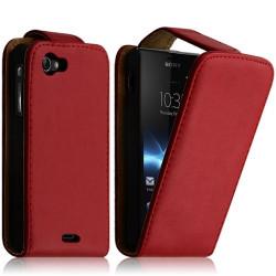 Housse coque étui pour Sony Xperia J Couleur Rouge