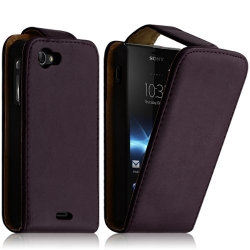 Housse coque étui pour Sony Xperia J Couleur Violet Foncé