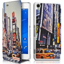 Coque Housse Etui à rabat latéral et porte-carte avec motif HF30 pour Sony Xperia Z3 + Film de protection