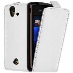 Housse Coque Etui pour Sony Ericsson Xperia Ray ST18i Couleur Blanc