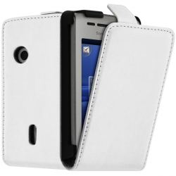 Housse Coque Etui pour Sony Ericsson Xperia X8 Couleur Blanc