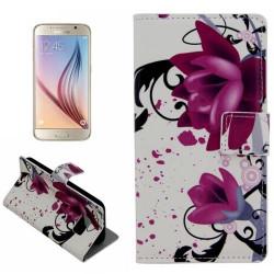 Etui Portefeuille de Protection et Support Motif pour Samsung Galaxy S6