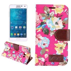 Etui Portefeuille de Protection et Support Motif pour Samsung Galaxy A5