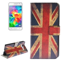 Etui Portefeuille Support Motif pour Samsung Galaxy Grand Prime