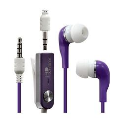 Écouteurs Stéréo Filaires couleur Violet pour Nokia : Lumia 930 / Lumia 635 / Lumia 630 / Lumia 1320 / Lumia 1520 / Lumia 625