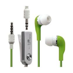 Écouteurs Stéréo Filaires couleur Vert pour Acer : Liquid S2 / liquid Z5 / liquid Z5 Duo / Liquid Z3 / Liquid Z4 / Liquid E2