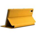 Etui à rabat latéral Support Couleur Jaune pour Sony Xperia Z3 + Film de protection