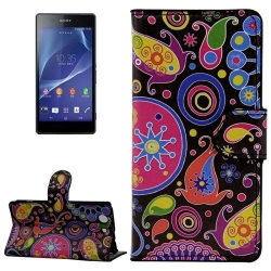 Etui Portefeuille Support Motif pour Sony Xperia Z3 Compact / Mini