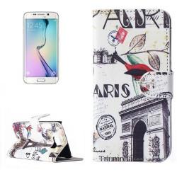 Etui Portefeuille de Protection et Support Motif pour Samsung Galaxy S6 Edge