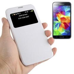 Etui de Protection Fenêtre S-view Couleur Blanc pour Samsung Galaxy S5 Mini