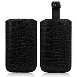 Housse Coque Etui Pochette Style Croco Couleur Noir pour Nokia Lumia 720 / Lumia 820