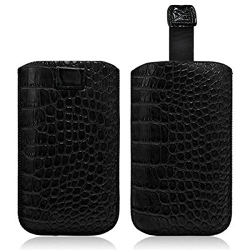 Housse Coque Etui Pochette Style Croco Couleur Noir pour BlackBerry Q5 / Q10