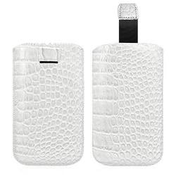 Housse Coque Etui Pochette Style Croco Couleur Blanc pour BlackBerry Q5 / Q10
