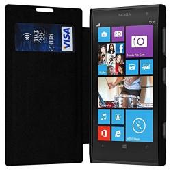 Etui Porte Carte pour Nokia Lumia 1020 couleur Noir + Film de Protection