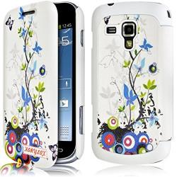 Etui Porte Carte pour Samsung Galaxy S Duos avec motif HF01 + Film de Protection