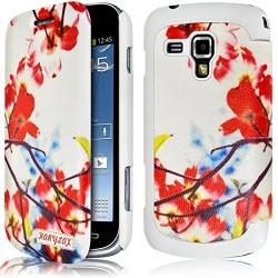 Etui Porte Carte pour Samsung Galaxy S Duos avec motif KJ12 + Film de Protection