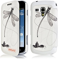 Etui Porte Carte pour Samsung Galaxy S Duos avec motif LM01 + Film de Protection