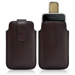 Housse coque étui pochette marron pour Apple Iphone 3G/3GS