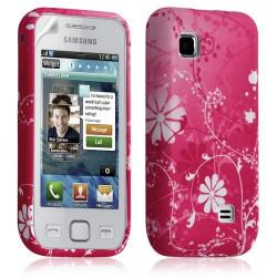 Housse coque étui en gel pour Samsung Wave 575 S5750 avec motif HF02