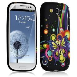 Housse coque étui gel pour Samsung Galaxy S3 motif HF05 + Film protecteur