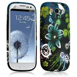 Housse coque étui gel pour Samsung Galaxy S3 motif HF09 + Film protecteur
