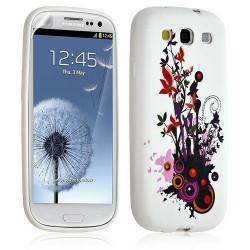 Housse coque étui gel pour Samsung Galaxy S3 motif HF12 + Film protecteur
