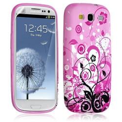 Housse coque étui gel pour Samsung Galaxy S3 motif HF17 + Film protecteur