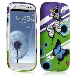 Housse coque étui gel pour Samsung Galaxy S3 motif HF22 + Film protecteur