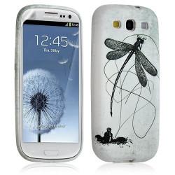 Housse Coque Étui Gel Pour Samsung Galaxy S3 Motif Lm01 + Film Protecteur