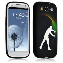 Housse Coque Étui Gel Pour Samsung Galaxy S3 Motif Lm05 + Film Protecteur