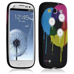Housse Coque Étui Gel Pour Samsung Galaxy S3 Motif Lm08 + Film Protecteur