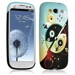 Housse Coque Étui Gel Pour Samsung Galaxy S3 Motif Lm12 + Film Protecteur