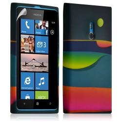Housse coque étui gel pour Nokia Lumia 800 motif LM04 + Film protecteur
