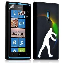 Housse coque étui gel pour Nokia Lumia 800 motif LM05 + Film protecteur