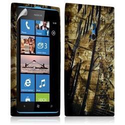 Housse coque étui gel pour Nokia Lumia 800 motif LM10 + Film protecteur
